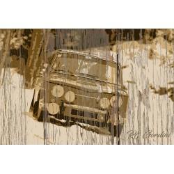 Panneau bois vintage R8 Gordini
