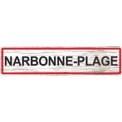 Panneau bois entrée de ville Narbonne-Plage