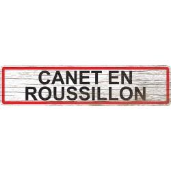 Panneau bois entrée de ville Canet-en-Roussillon