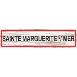 Panneau bois entrée de ville Sainte-Marguerite-sur-Mer