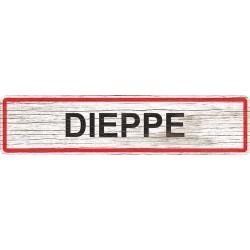 Panneau bois entrée de ville Dieppe