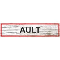 Panneau bois entrée de ville Ault