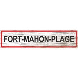 Panneau bois entrée de ville Fort-Mahon-Plage