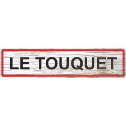 Panneau bois entrée de ville Le Touquet