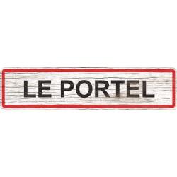 Panneau bois entrée de ville Le Portel
