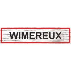 Panneau bois entrée de ville Wimereux