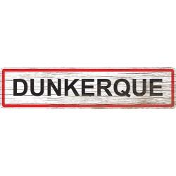 Panneau bois entrée de ville Dunkerque