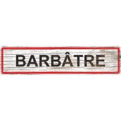 Panneau bois entrée de ville Barbâtre
