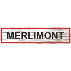 Panneau bois entrée de ville Merlimont