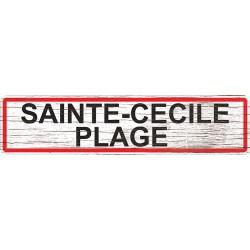 Panneau bois entrée de ville Sainte-Cécile-Plage