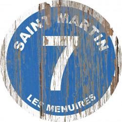 Panneau Bois Vintage Saint Martin