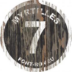 Panneau Bois Vintage Myrtilles