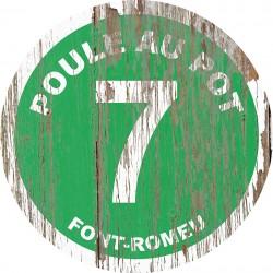 Panneau Bois Vintage Poule au Pot
