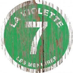 Panneau Bois Vintage La Violette