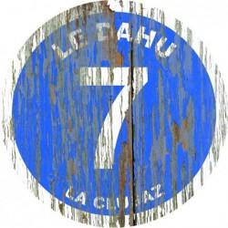 Panneau vintage bois Le dahu