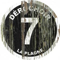 Panneau vintage bois Dérochoir