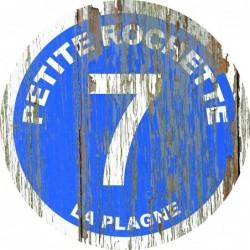 Panneau vintage bois Petite rochette