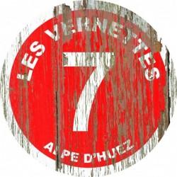 Panneau vintage bois Les vernettes