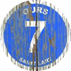 Panneau vintage bois Ours