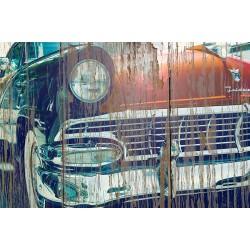 Panneau bois vintage American Car
