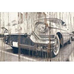 Panneau bois vintage Cadillac