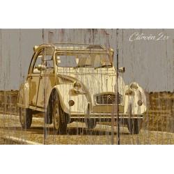 Panneau bois vintage 2CV
