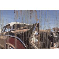 Panneau bois vintage Classic Car