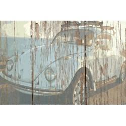 Panneau bois vintage Cox
