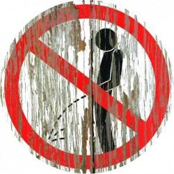 Panneau vintage Interdiction uriner
