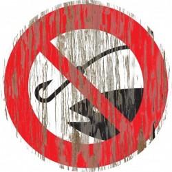 Panneau vintage peche interdite
