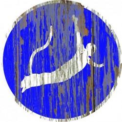 Panneau vintage Saut elastique autorise