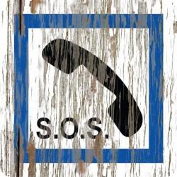 Panneau vintage SOS