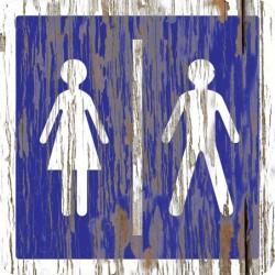Panneau vintage Toilettes