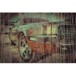 Panneau bois vintage Ford