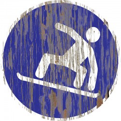 """Panneau bois vintage """"Zone Snowboard"""""""