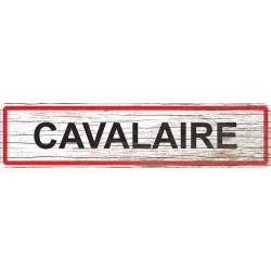 Panneau bois entrée de ville Cavalaire