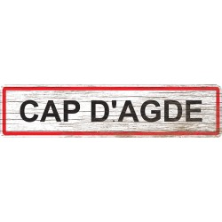 Panneau bois entrée de ville Cap d'Agde