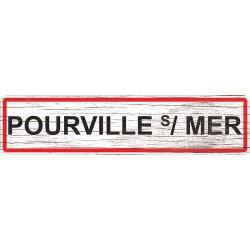 Panneau bois entrée de ville Pourville-sur-Mer