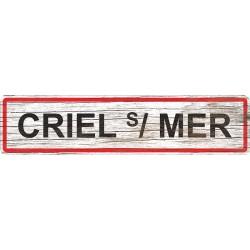 Panneau bois entrée de ville Criel-sur-Mer
