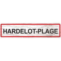Panneau bois entrée de ville Hardelot-Plage