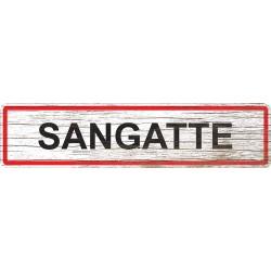 Panneau bois entrée de ville Sangatte