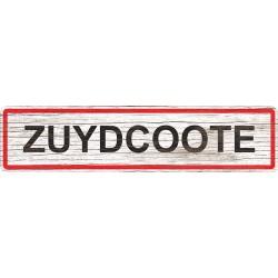 Panneau bois entrée de ville Zuydcoote