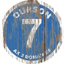 Panneau Bois Vintage Ourson