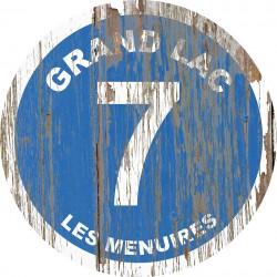 Panneau vintage bois Grand Lac