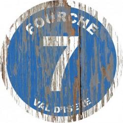 Panneau vintage bois Fourche