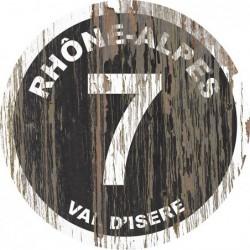 Panneau vintage bois Rhône Alpes