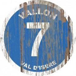 Panneau vintage bois Vallon