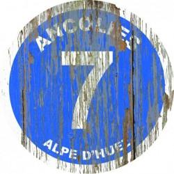 Panneau vintage bois Ancolies