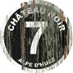 Panneau vintage bois Chateau noir