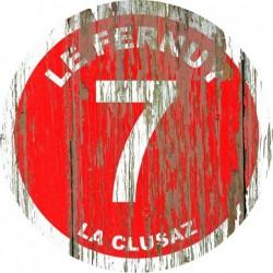Panneau vintage bois Le fernuy